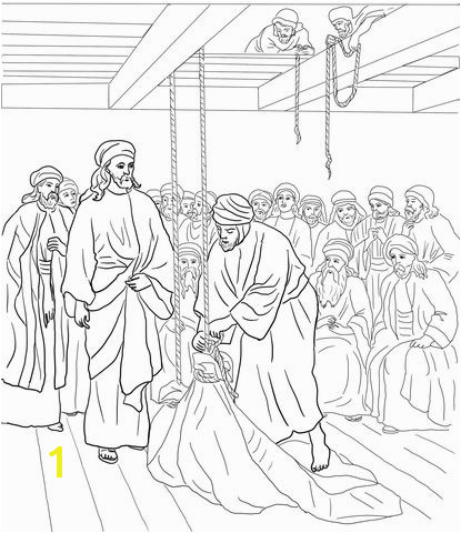 Jesus Heals the Paralyzed Man coloring page from Jesus Mission Period category Select from printable crafts of cartoons nature animals