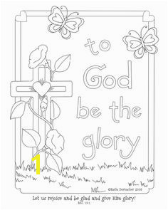 Glory of the Lord Coloring Page