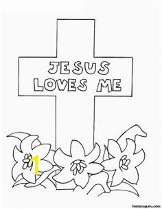 Jesus Loves Me Cross Coloring Pages