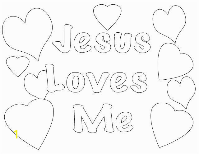 """Jesus Loves Me Coloring Page or as I Have Loved You"""" Coloring Pages"""