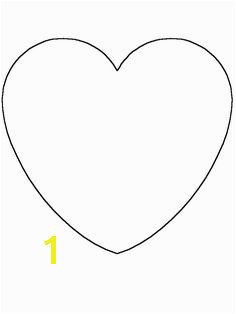 Heart Simple shapes Coloring Pages