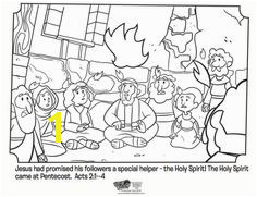 Kids coloring page from What s in the Bible showing the Holy Spirit ing upon the