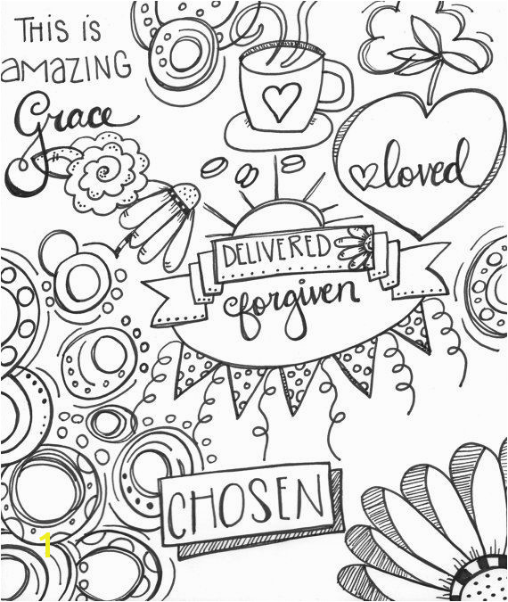 Chosen Delivered Forgiven and Amazing Grace Coloring Page Bible Journaling Pinterest
