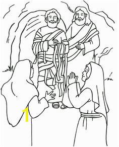 Jesus Raises Lazarus Coloring Page Sunday School Coloring Pages Bible For Kids Sunday School