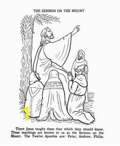 Jesus Teaches Coloring Pages The Sermon on the Mount