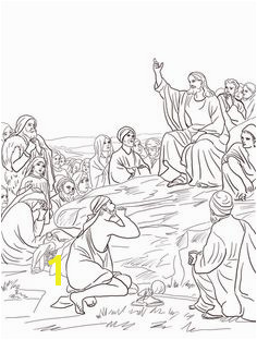 Jesus Sermon on the Mount Coloring page Preschool Bible Bible Activities Bible Coloring Pages