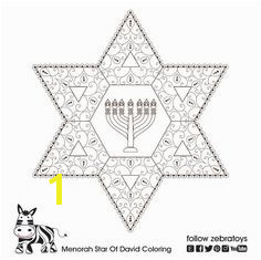Menorah Printable Star David Healing Strength Jewish Soul Art Golden Ratio Spiral Patterns Coloring Page Menorah Crafts INSTANT DOWNLOAD