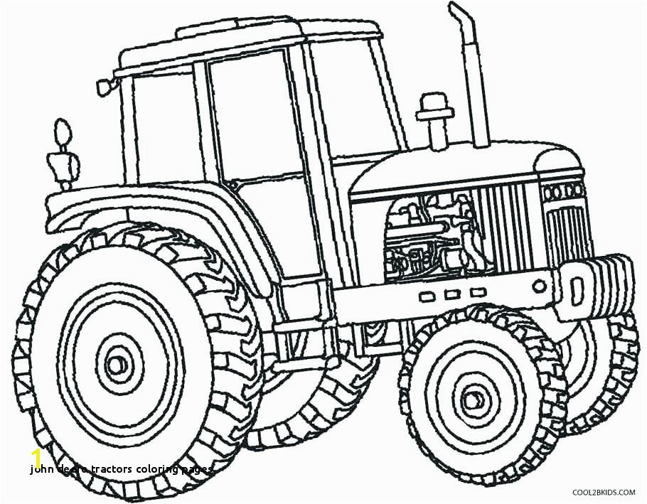 20 John Deere Tractors Coloring Pages