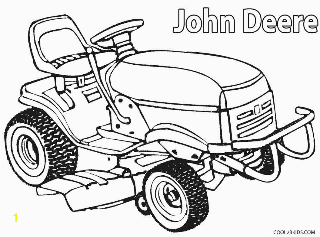 John Deere Lawn Mower Coloring Pages