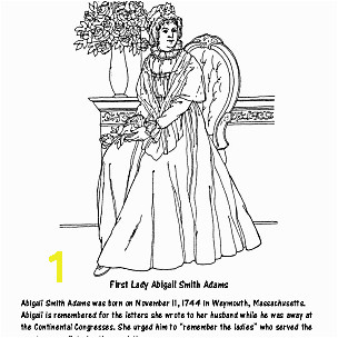 First Lady Abigail Smith Adams Coloring Page