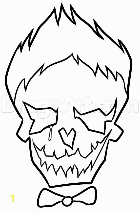 Suicide Squad Joker Skull Coloring