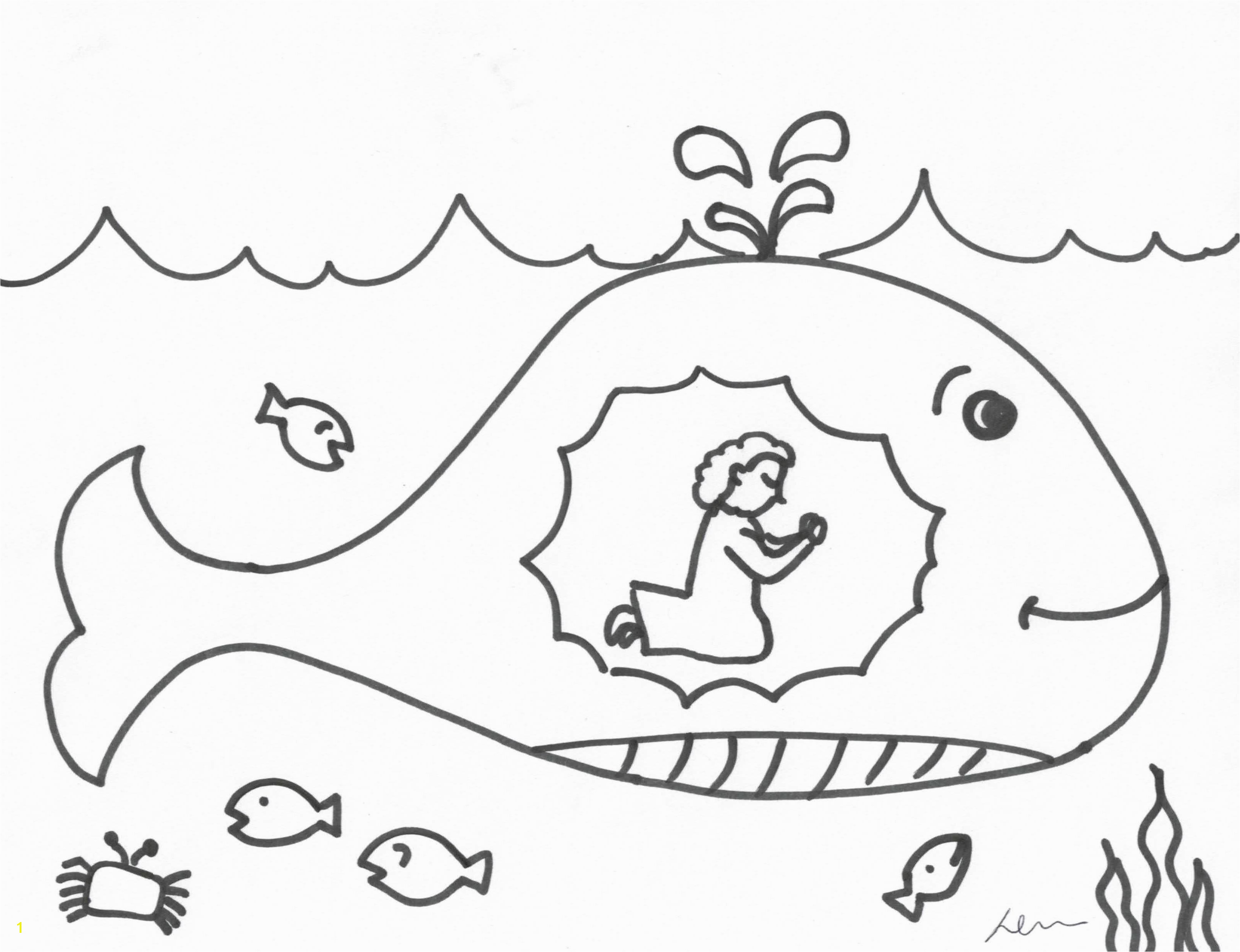 Jonah And The Whale Coloring Pages For Jonah And The Whale Coloring Pages For Great
