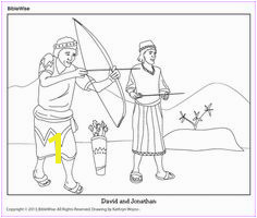 Coloring David and Jonathanl Kids Korner BibleWise Bible Activities For Kids