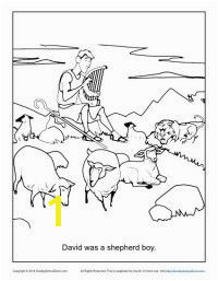 David Was a Shepherd Boy FREE printable bible story coloring pages for kids