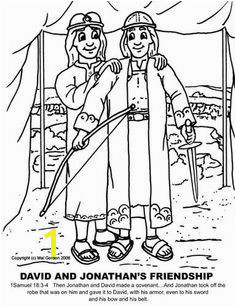Jonathan and David Bible Coloring Pages 417 Best Coloring Sheets for Sunday School Images On Pinterest In