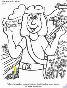 BIBLE COLORING PAGES Josehua Goes To Jericho Joshua Bible Sabbath Activities Bible Coloring