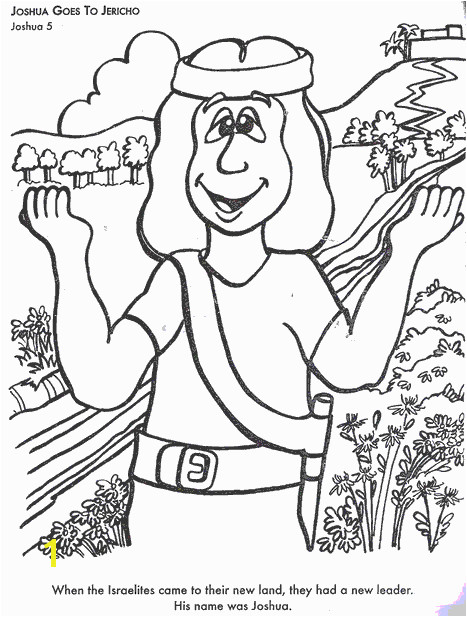 Joshua and the Promised Land Coloring Page Bible Coloring Pages Josehua Goes to Jericho