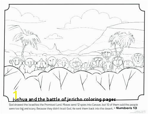 Joshua and the Battle Jericho Coloring Pages Joshua Coloring Pages Sheets and S Wall Jericho