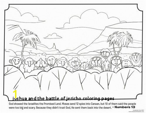 Joshua and the Battle Jericho Coloring Pages Joshua and the Promised Land Coloring Page Beautiful