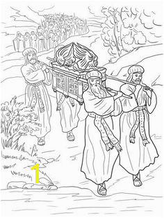 Joshua and the Israelites Cross the Jordan River coloring page from Joshua category Select from