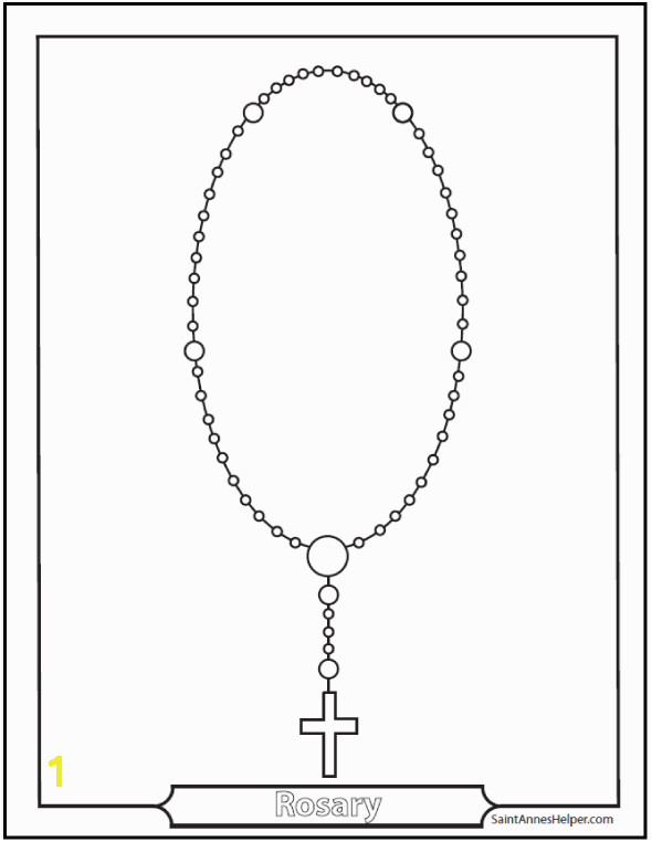 Dozens of Rosary Coloring Pages