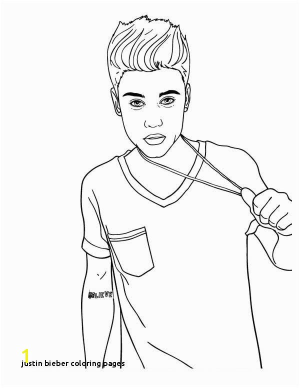 Justin Bieber Coloring Pages 28 Collection Justin Bieber Line