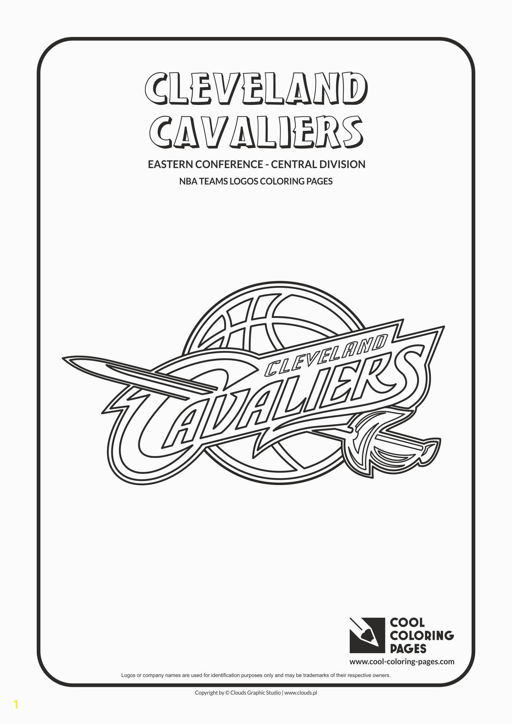 Cool Coloring Pages NBA Teams Logos Cleveland Cavaliers logo Coloring page…