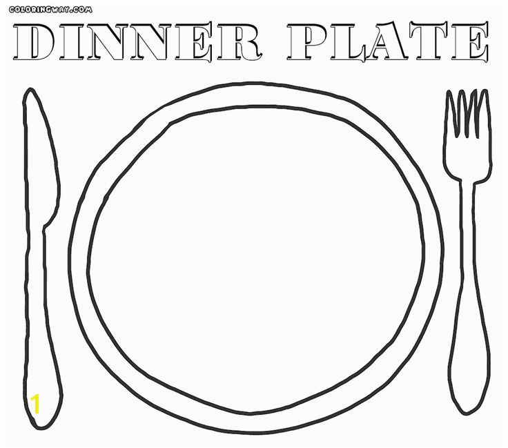 empty plate coloring sheet coloring pages100 ideas plate coloring page on gerardmann