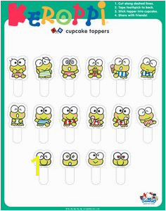 Keroppi Sanrio Characters Cupcake Toppers Hello Kitty Party Themes Binder Muffins Baby Ideas Free Printables