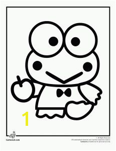 hello kitty keroppi coloring pages