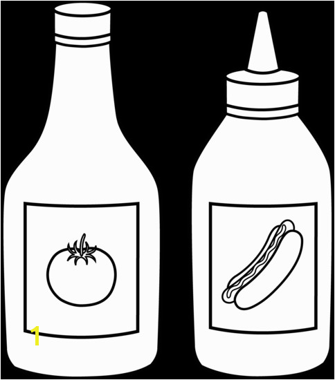 Ketchup Bottle Coloring Page Collection Of Bottle Coloring Pages