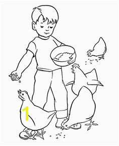 Farm Work and Chores Coloring Pages