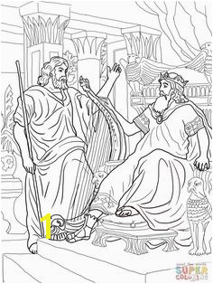 King David And Nathan Coloring line Super Coloring Bible Coloring Pages Coloring Sheets Free