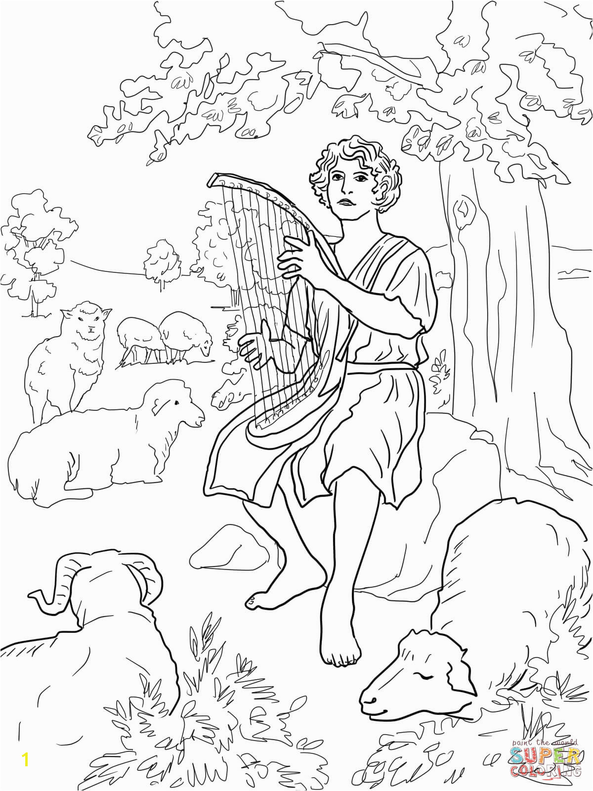 King David Coloring Pages King David Coloring Pages