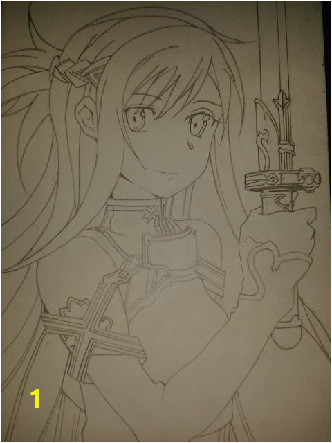 Sword Art line Asuna Line Art by Joe Ball
