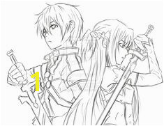 Sword Art line Kirito and Asuna