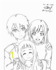 Asuna Kirito SAO Lineart