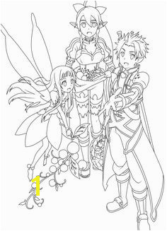 Sword Art line Kirito line Coloring Pages Adult Coloring Pages Coloring Sheets