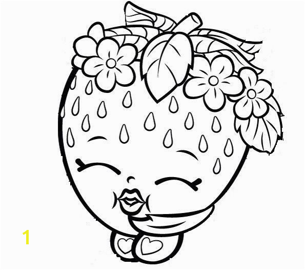 Free Shopkins Coloring Pages Lovely Strawberry Kiss Free Coloring Page • Kids Shopkins Coloring Pages