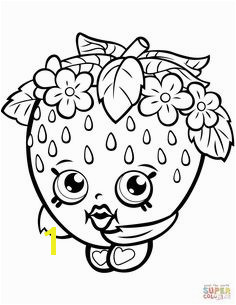 Strawberry Kiss Shopkin coloring page