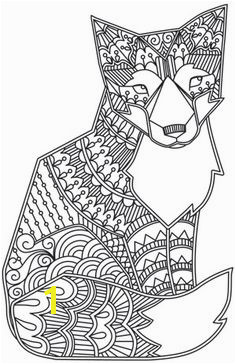 Possible quilling template Doodle Fox design coloring page