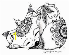 Zentangle Fox Coloring Page Print Science¢Ëœ¼ for Fox In socks Coloring Page