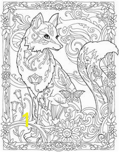 Creative Haven Fanciful Foxes Coloring Book Stefanie Palmer · Fox Coloring Pages