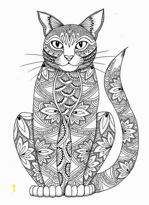 Adult Coloring Pages Cats 3 1 More and like OMG some yourself some pawtastic adorable cat shirts cat socks and other cat apparel by tapping the pin