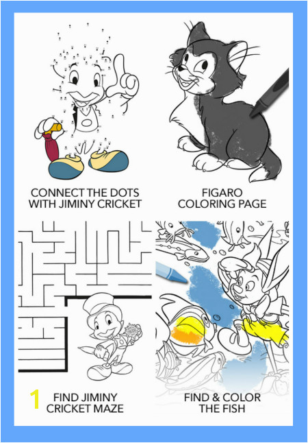 The Printable Pinocchio Activity Sheets include puzzles coloring pages and more pinocchio Disney printables
