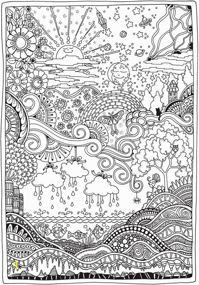 Creative Haven Insanely Intricate Entangled Landscapes Coloring Book More