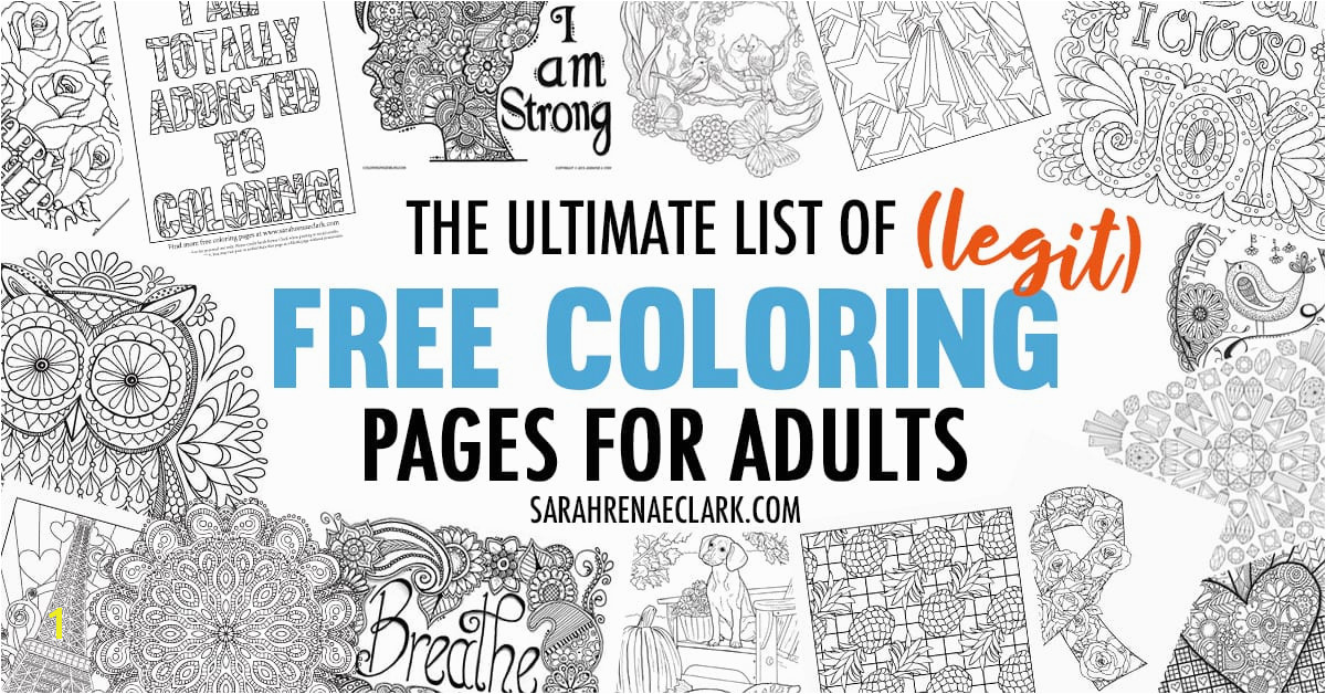View r Image The Ultimate List of Legit Free Coloring Pages for Adults