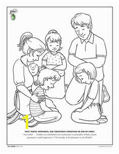 lds coloring pages prayer