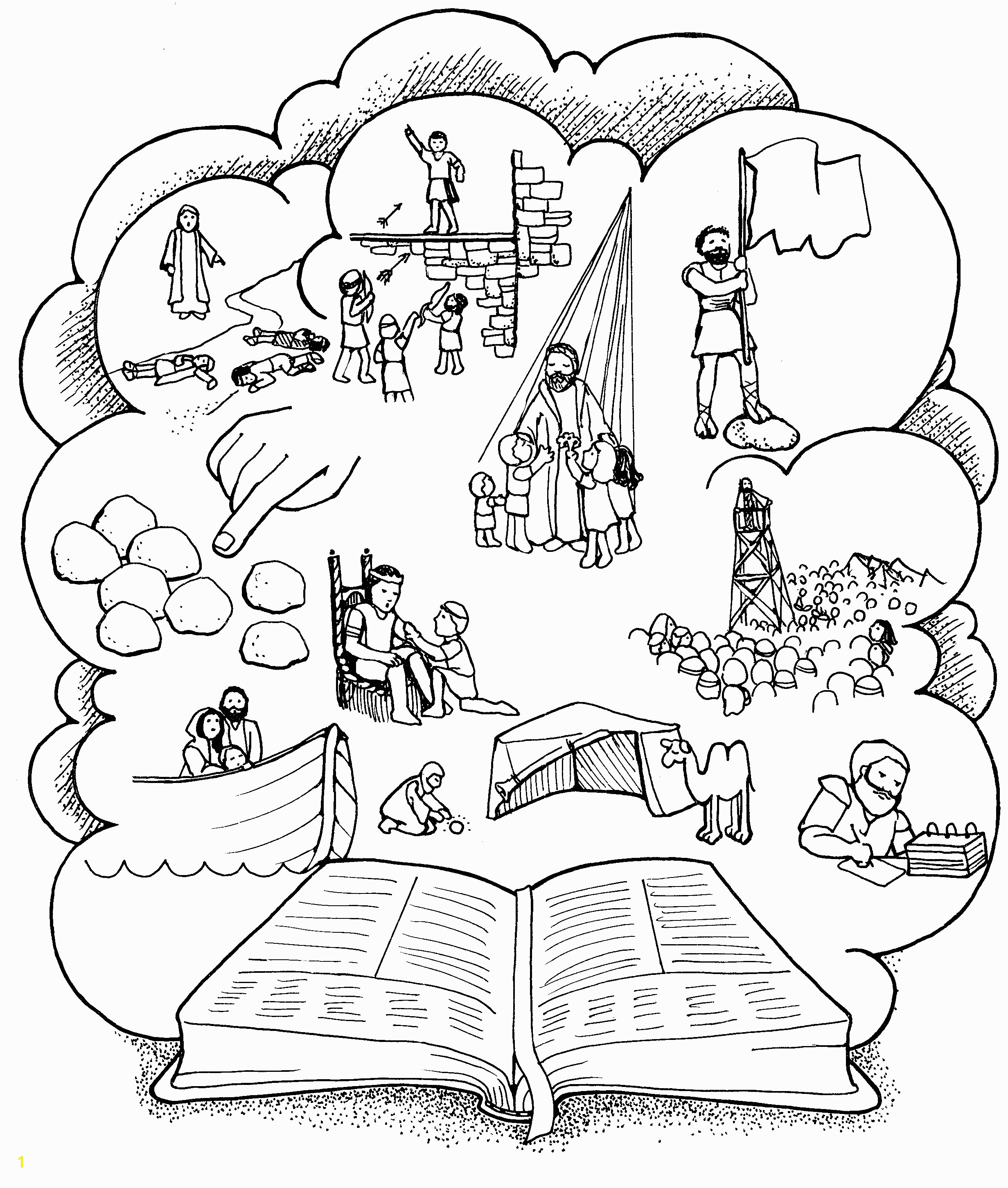 Book Revelation Coloring Pages