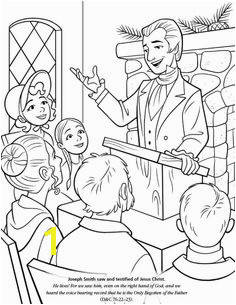 LDS Games Color Time Joseph Smith Saw and Testified of Jesus Christ Primary Lessons